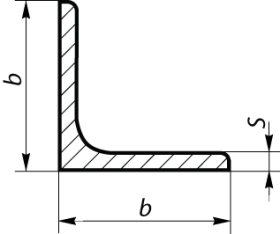 Угол горячекатаный равнополочный 25×4 ГОСТ 8509-93